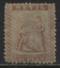 Nevis 1861 1d lake rose unused no gum