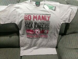 Manly Sea Eagles NRL 2011 Grand Final T-Shirt Size Small - Premiers - Jersey