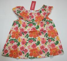 NWT Gymboree FLORAL HIBISCUS FLOWER TOP Aline Ruffle Woven Girls Size 7