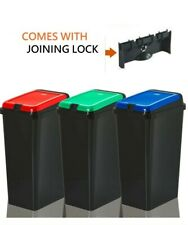 More details for 45l plastic recycle bin kitchen recycling dust bin waste rubbish touch top bins