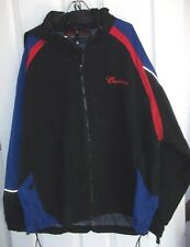 Budweiser Jacket 3XL Black Nylon Stashable Hood Embroidered Reflective