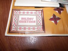 Vintage Holiday Greetings Creative Circle Cross Stitch Kit 2160