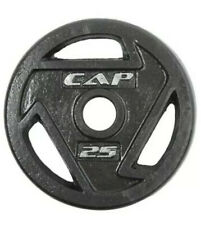 """NEW CAP Barbell 25 lb Solid Cast Iron 2"""" Olympic Grip Plates Pair (50 lb Total)"""