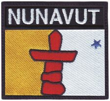 NUNAVUT CANADA TERRITORY FLAG-SILVER LICENSED STICKER FLAG PLATE..SIZE:6 X 3 IN.