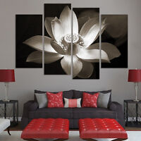 Huge Lotus Modern Abstract Wall Decor Art Oil Painting On Canvas DIY Fashion Hot