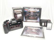 Nishika N8000 3D stereo camera kit with instr. & flash. Mint. BOXED. GWO.