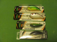 4 BOMBER FAT FREE SHAD LURES.
