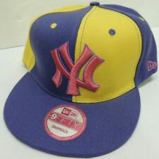 NEW YORK YANKEES Snapback 9FIFTY Flat Bill MLB Cap/Hat -Purple/Yellow - New Era