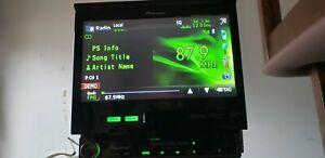 """PIONEER AVH-P6300BT 7"""" FLIP UP CD DVD USB SD CARD BLUETOOTH."""
