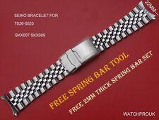 Seiko JUBILEE ORIGINALE 22mm Cinturino per 7s26-0020 SKX007 K2 Skx009 7002-700 K2