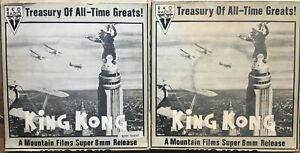 Mountain Films RKO Radio Pictures King Kong Super 8 8mm X 2 Boxed Reels Rare