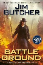 AUTHOR SIGNED 1st - Battle Ground (Dresden Files) Jim Butcher HC -Just Released!