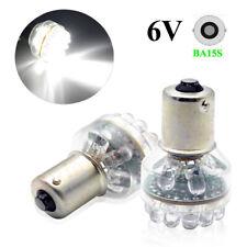 10x 6V 1156 ba15s 24 SMD LED White Car Bulb Light Brake/Turn/Tail/Reverse Lamp W