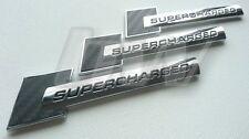 3 X SUPERCHARGED CARBON FIBRE & SILVER BADGES AUDI RS3 RS4 RS5 RS6 RS7 R8 TTRS