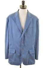 POLO RALPH LAUREN Mens Blazer Jacket Size 46 XXL Blue Cotton