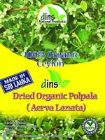 100% Organic Dins  Natural  Polpala Herbal Tea (Aerva lanata) Free Shipping