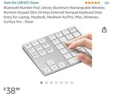 NEW- Bluetooth Number Pad Wireless Rechargeable, Numeric Keypad Keyboard
