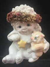 Dreamsicles Figurine Cherub Plays With Cat 1994 Large
