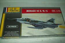 HELLER  MIRAGE III E/R/5       1:72 scale plastic kit