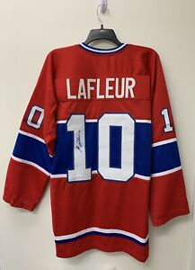 Guy Lafleur Signed Montreal Canadiens Jersey JSA COA Rangers HOF Auto RARE