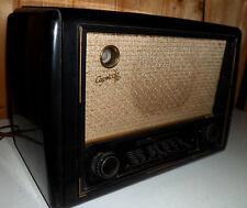 Kleines RöhrenradioTelefunken Capriccio 50 GW von 1950 aus Bakelit