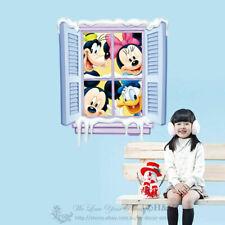 Disney Mickey & Minnie Mouse Donald Duck Window Wall Sticker Kid Nursery Decal