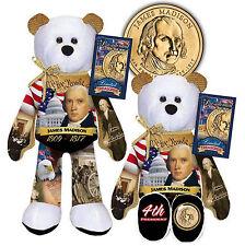 #04 JAMES MADISON Limited Treasures  Presidential Golden Dollar Plush Bear