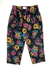 Corey Lynn Calter Floral Cropped Pleated Pants Silk Wool Blend Size 2