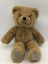 "14"" Stuffed Plush Vintage Applause 1988 Brown Teddy Bear Biscuit"