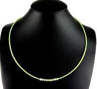 Peridot und Welo Opal Kette edelsteinkette fein-Schliff Damen Grün Collier 45 cm
