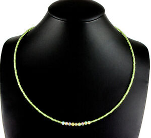 Peridot And Welo Opal Necklace Precious Stone Fein-Schliff Ladies Green Necklace