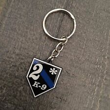Thin Blue Line Two-Ass-To-Risk K-9 Shield Key Chain