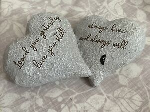 Next Stone Effect Engraved Love Hearts Ornament Sentiment Love You Always