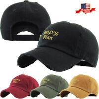 God's Plan Embroidery Dad Hat Baseball Cap Unconstructed Cotton