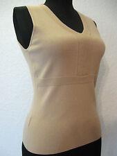 Ann Taylor LOFT Top Sz. XS Tan Stretch Rayon Nylon Knit Sleeveless #851
