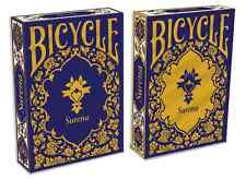 Lot 2 Pack Surena Persian Style Bicycle Playing Cards Gold & Navy Blue Deck NEW