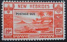 More details for new hebrides 1938 twenty centimes opt postage due sg d8 mint