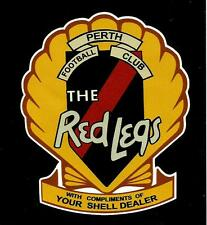 PERTH Vinyl DECAL STICKER SHELL DEALER Petrol WAFL vfl afl THE RED LEGS Football