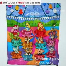 Promotion Disney Pin Hong Kong HKDL 2017 Mad Hatter Tea Cups Bag Random 2 Pins