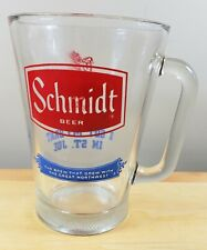 Rare Vintage Schmidt Beer Glass Pitcher I Got My Brat In St. Joe Brew That Grew