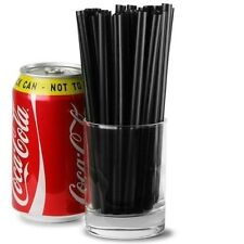 500x Jumbo Black Straws 15cm Drinking Smoothie Bar Pub Drink Cocktail Straw
