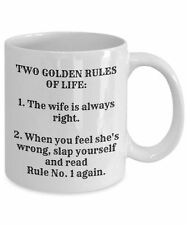Funny Wife Mug, The Wife Is Always Right, 15oz White Ceramic Coffee Tea Cup
