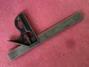 "Vintage Lufkin Rule Co Universal No. 65 Combination Square 9""  USA Saginaw MI"