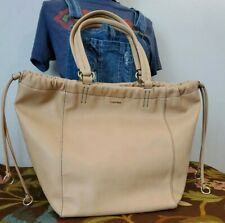 Calvin Klein Tan Large Tote Bag Shoulder Purse Straps - gorgeous and roomy