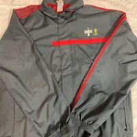 Adidas Mens Track Jacket Gray FIFA Brasil Soccer World Cup Coke Long Sleeve XL