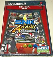 SNK ARCADE CLASSICS VOL. 1 PS2 NTSC US ENGLISH NEW FACTORY SEALED