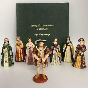 "Regency Fine Arts Henry VIII & Six Wives Figurines 2004 Boxed 5""/13cm 6019 CP"
