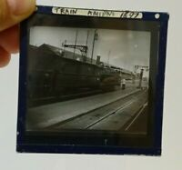 Vintage Glass Negative TRAIN Amiens 1897