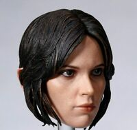 "1/6 Scale  Female Head Sculpt Jyn Erso A Star Wars Story Model F 12"" Figure Body"