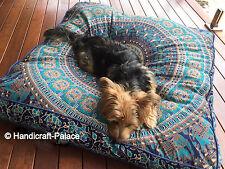 Indian Mandala Cotton Floor Cushion Pillow Cover Square Pet Dog Bed Bohemian Art
